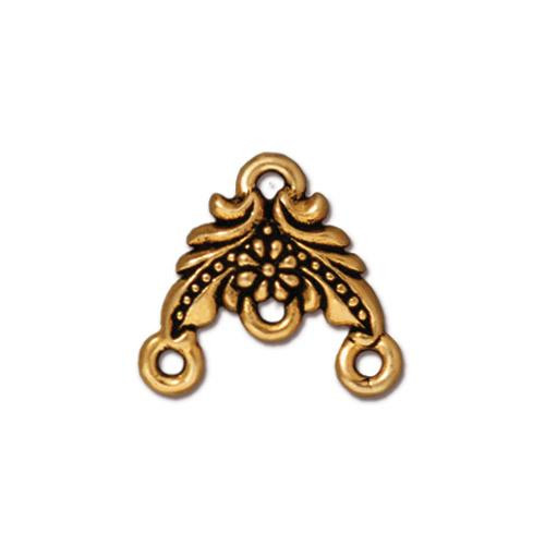 Garland Link, Antiqued Gold Plate, 20 per Pack