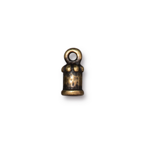 Palace Cord End 2mm, Oxidized Brass Plate, 20 per Pack