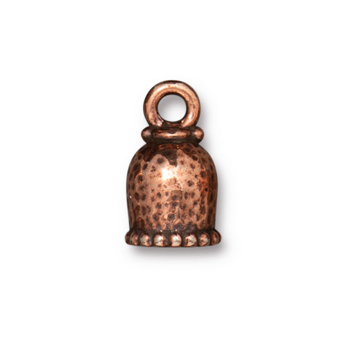 Palace Cord End 6mm, Antiqued Copper Plate, 20 per Pack