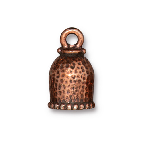 Palace Cord End 8mm, Antiqued Copper Plate, 10 per Pack