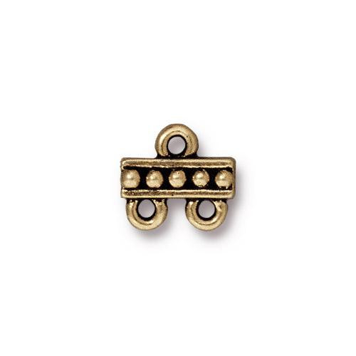 Beaded 2-1 Link, Oxidized Brass Plate, 20 per Pack