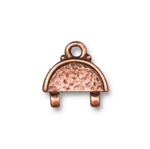 Hammertone Stitch-in Link, Antiqued Copper Plate, 20 per Pack
