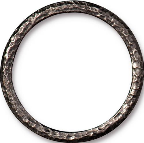 Hammertone 1.25 inch Ring, Black Plate, 10 per Pack
