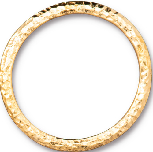 Hammertone 1.25 inch Ring, Gold Plate, 10 per Pack
