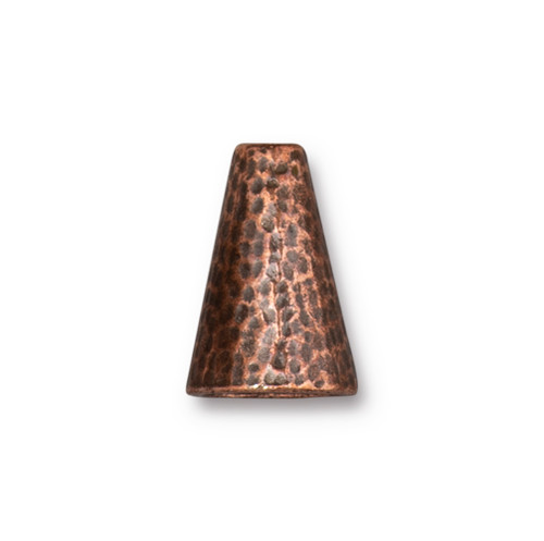 Hammertone 16mm Cone, Antiqued Copper Plate, 10 per Pack