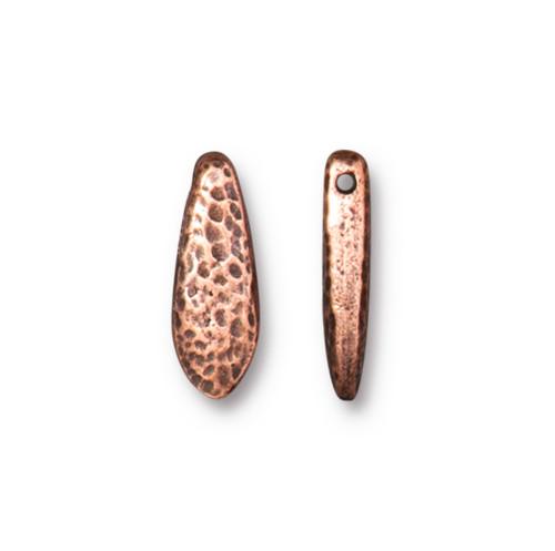 Hammertone Dagger Bead, Antiqued Copper Plate, 20 per Pack