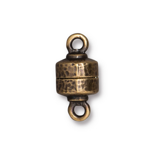 Hammertone Magnetic Clasp, Oxidized Brass Plate, 5 per Pack