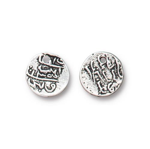 Maldive Larin Drop, Antiqued Silver Plate, 20 per Pack