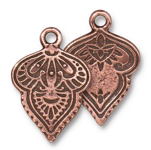 Mehndi Charm, Antiqued Copper Plate, 20 per Pack