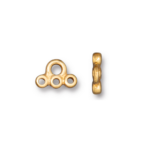 Stitch-in Connector Link, Gold Plate, 20 per Pack