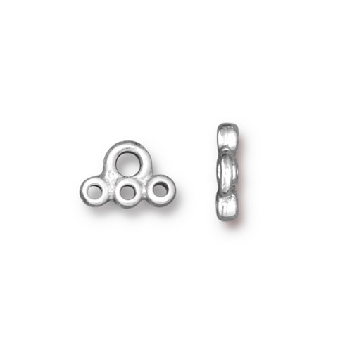 Stitch-in Connector Link, Rhodium Plated, 20 per Pack