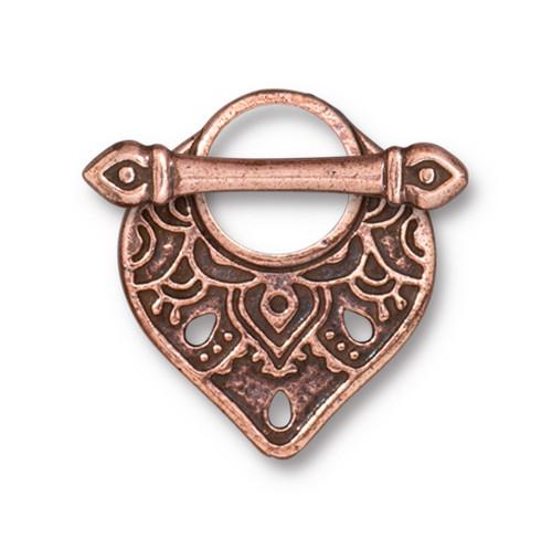 Temple Clasp Set, Antiqued Copper Plate, 10 per Pack
