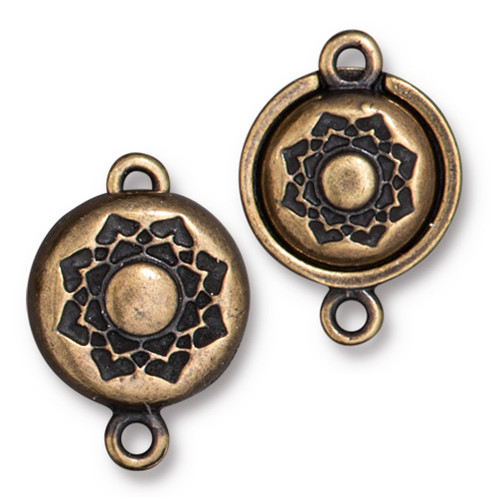 Lotus Magnetic Clap Set, Oxidized Brass Plate, 5 per Pack