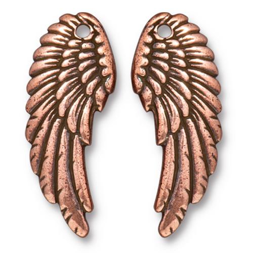 Angel Wing Set, Antiqued Copper Plate, 10 per Pack