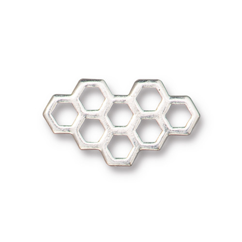 Honeycomb Link, Antiqued Silver Plate, 20 per Pack