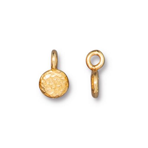 Full Moon Charm, Gold Plate, 20 per Pack
