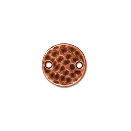 Hammertone Round Link, Antiqued Copper Plate, 20 per Pack