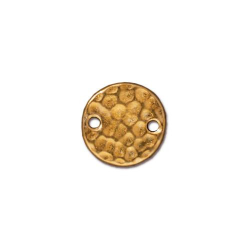 Hammertone Round Link, Gold Plate, 20 per Pack