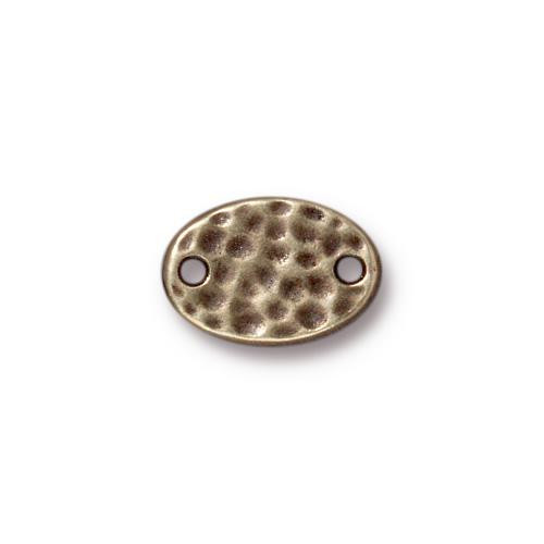 Hammertone Oval Link, Oxidized Brass Plate, 20 per Pack