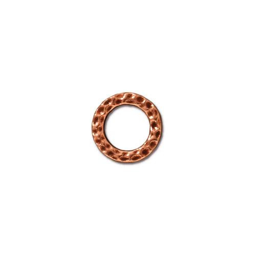 Small Hammertone Ring, Antiqued Copper Plate, 20 per Pack
