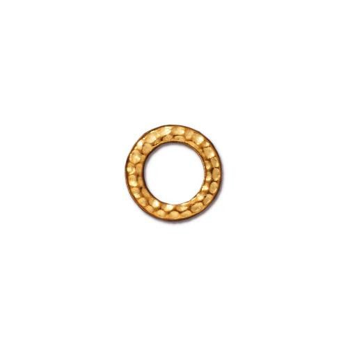 Small Hammertone Ring, Gold Plate, 20 per Pack