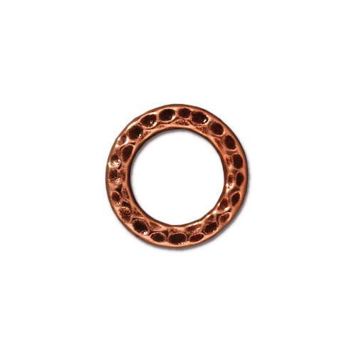 Medium Hammertone Ring, Antiqued Copper Plate, 20 per Pack
