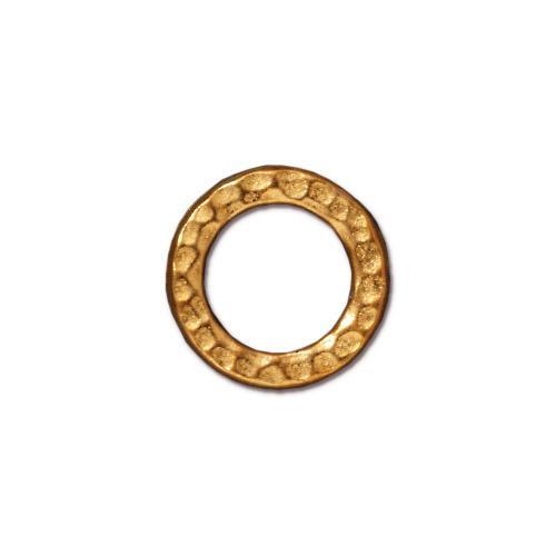 Medium Hammertone Ring, Gold Plate, 20 per Pack