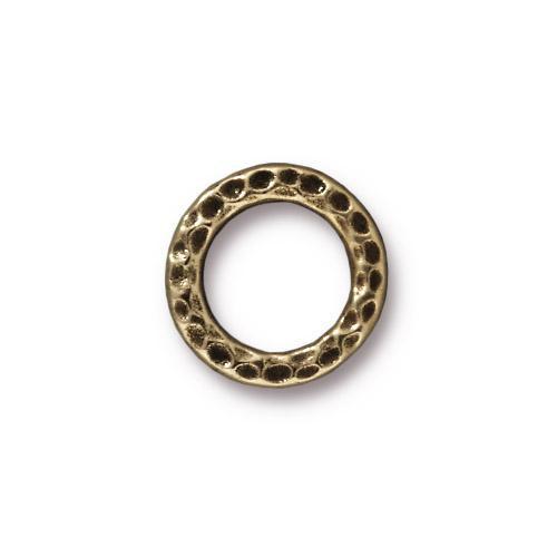 Medium Hammertone Ring, Oxidized Brass Plate, 20 per Pack