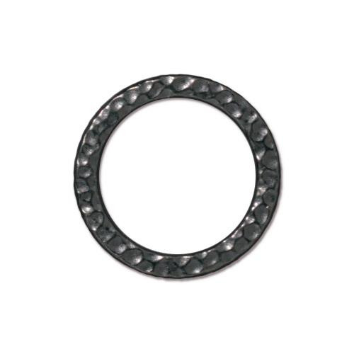 Large Hammertone Ring, Black Plate, 20 per Pack