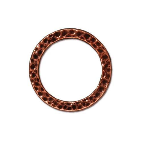 Large Hammertone Ring, Antiqued Copper Plate, 20 per Pack