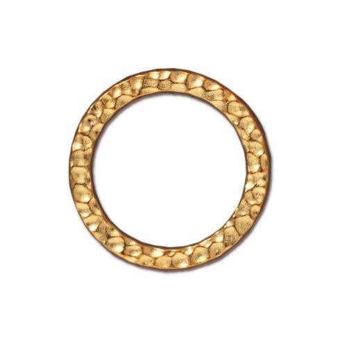 Large Hammertone Ring, Gold Plate, 20 per Pack