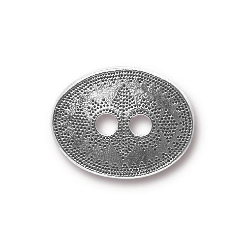 Tribal Button, Antiqued Silver Plate, 20 per Pack