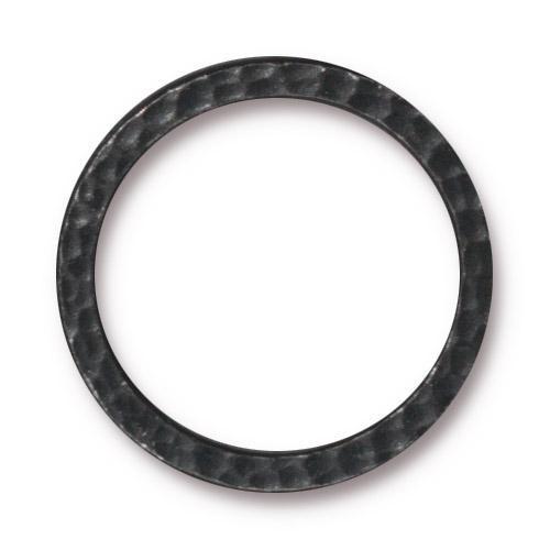 Hammertone Ring 1 inch, Black Plate, 20 per Pack