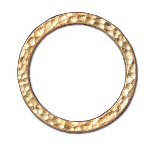Hammertone Ring 1 inch, Gold Plate, 20 per Pack