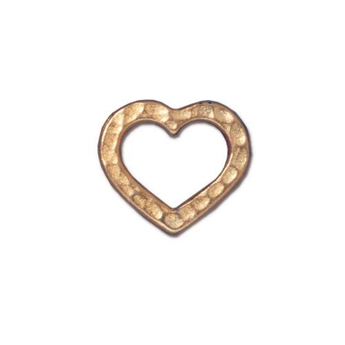 Hammertone Heart Ring, Gold Plate, 20 per Pack