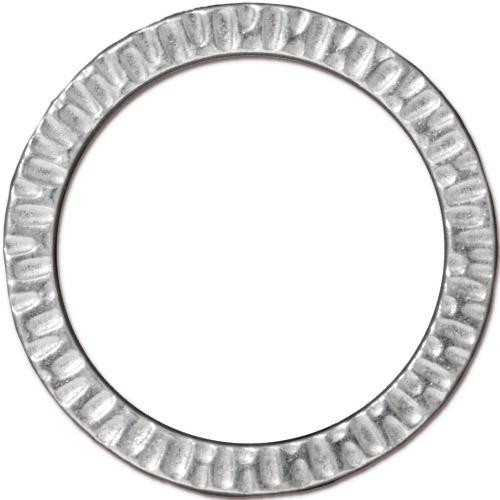 Radiant Ring 1 1/4 inch, Rhodium Plated, 10 per Pack
