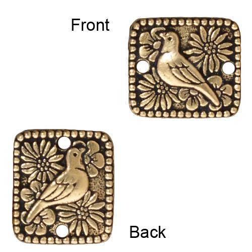Paloma Link, Antiqued Gold Plate, 20 per Pack