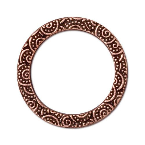 Spiral Ring 1 inch, Antiqued Copper Plate, 20 per Pack