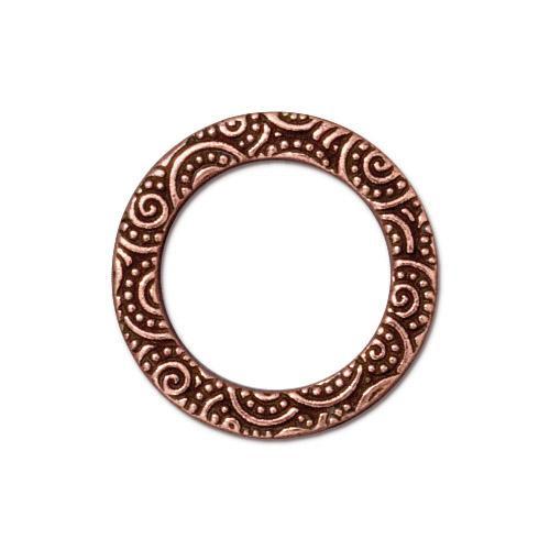 Spiral Ring 3/4 inch, Antiqued Copper Plate, 20 per Pack
