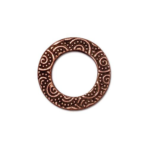 Spiral Ring 5/8 inch, Antiqued Copper Plate, 20 per Pack
