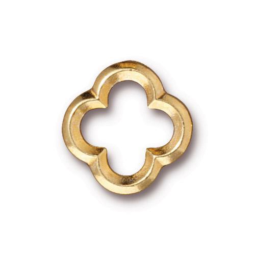 Medium Quatrefoil Link, Gold Plate, 20 per Pack