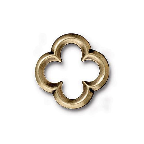 Medium Quatrefoil Link, Oxidized Brass Plate, 20 per Pack