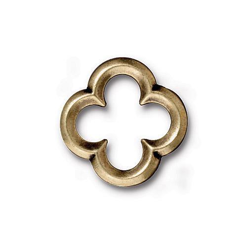 Medium Quatrefoil Link, Oxidized Brass Plate, 20 per Pack