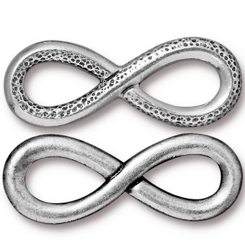 Infinity Link, Antiqued Silver Plate, 10 per Pack