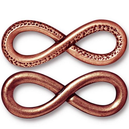 Infinity Link, Antiqued Copper Plate, 10 per Pack
