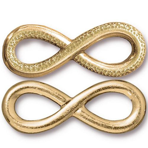 Infinity Link, Gold Plate, 10 per Pack
