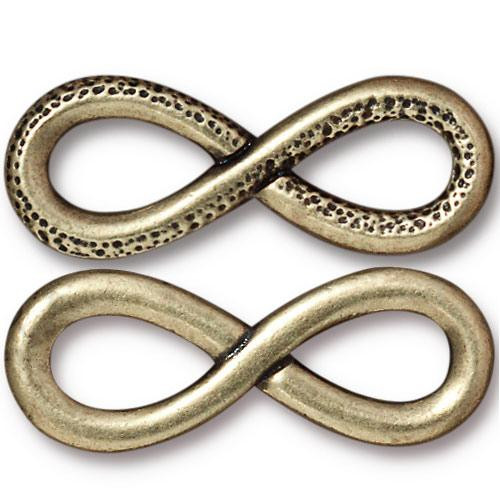 Infinity Link, Oxidized Brass Plate, 10 per Pack