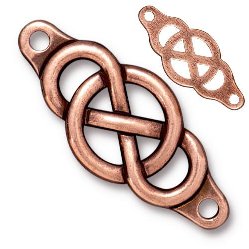 Infinity Centerpiece Link, Antiqued Copper Plate, 10 per Pack
