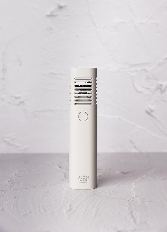 Portable Fan: JJOBI WIND - Ergonomic hand-held battery-operated fan (Grey)
