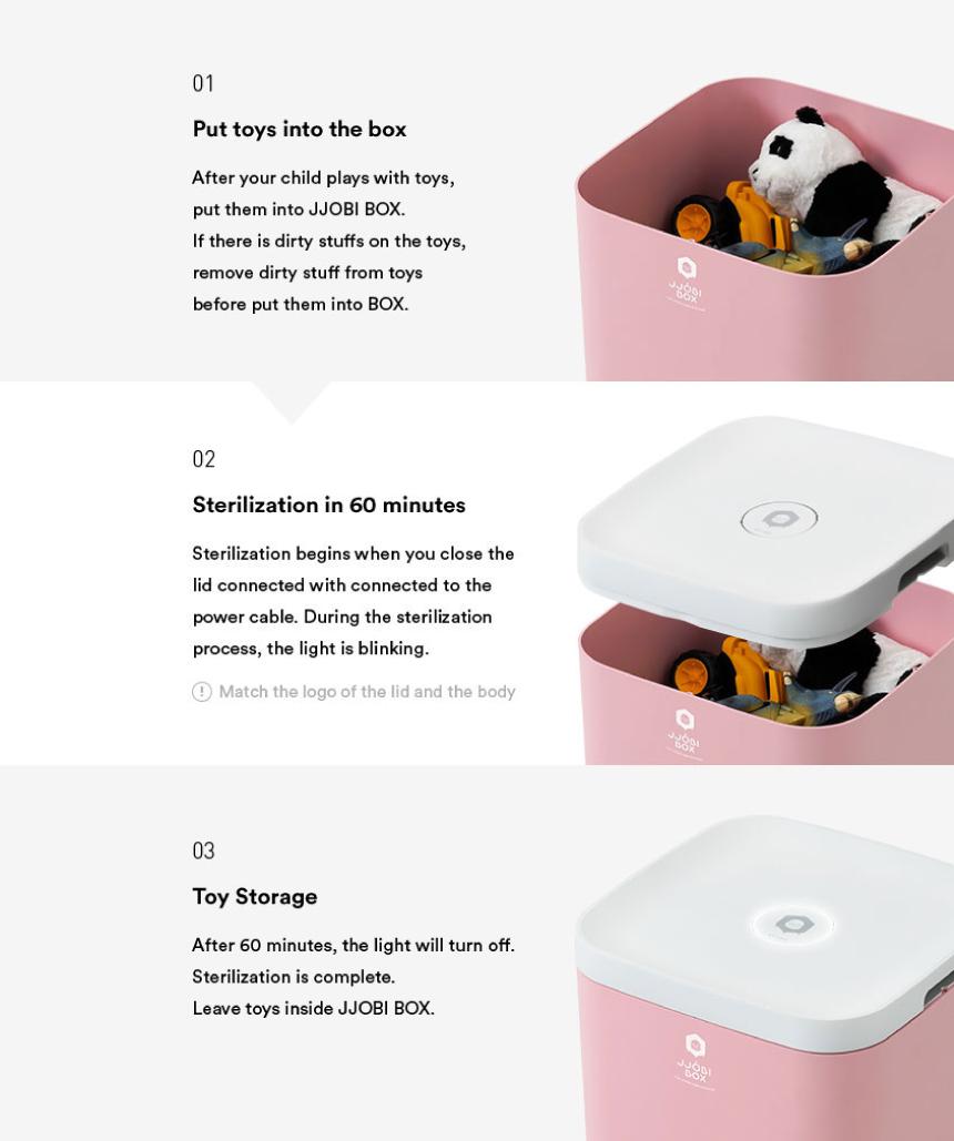 JJOBI Box - How to use - Grey